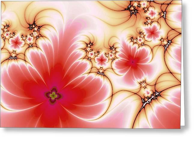 Blooming Mixed Media Greeting Cards - Blooming Greeting Card by Anastasiya Malakhova