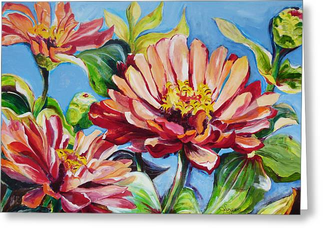 Suzanne Willis Greeting Cards - Blooming Everyday Greeting Card by Suzanne Willis