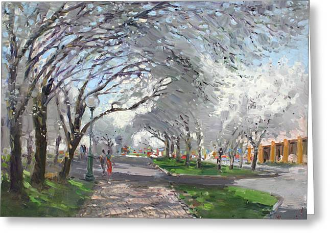 Blooming Greeting Cards - Blooming in Niagara Park Greeting Card by Ylli Haruni