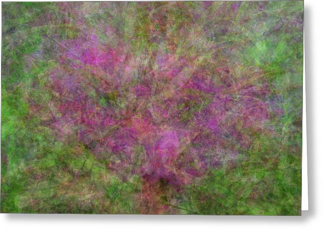 Green Foliage Tapestries - Textiles Greeting Cards - Blooming Love Greeting Card by Suzi Freeman