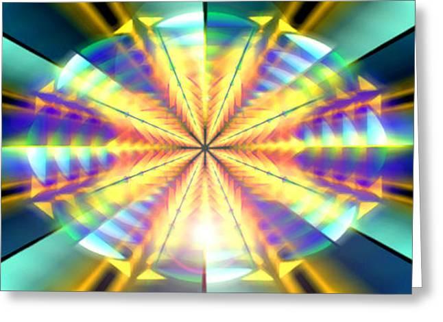 Geometric Image Greeting Cards - Blooming Seasons Banner Greeting Card by Derek Gedney