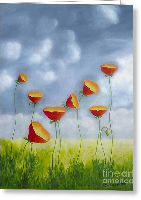 Harmonious Paintings Greeting Cards - Blooming summer Greeting Card by Veikko Suikkanen