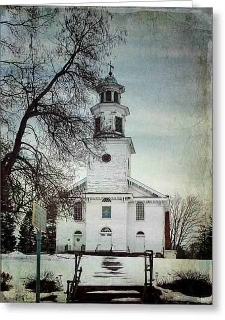 Reform Digital Greeting Cards - Bloomingburgh NY Dutch Reformed Church Greeting Card by Pamela Phelps
