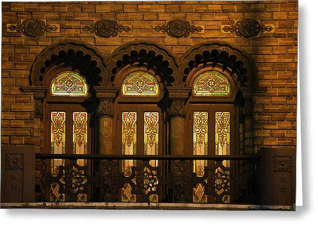 Bloomingdale's at Home in Chicago's Medinah Temple Greeting Card by Christine Till