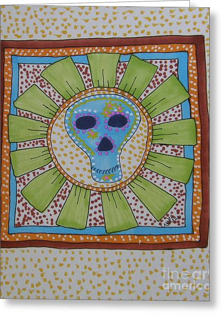 Blooms Greeting Card by Marcia Weller-Wenbert