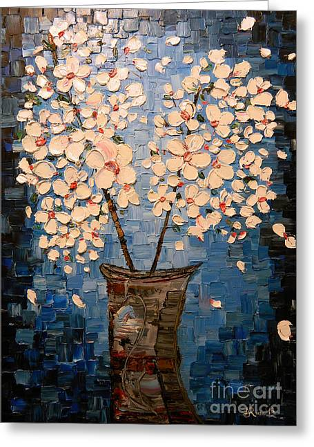 Impressionism Reliefs Greeting Cards - Blossom Bouquet Greeting Card by Alexandru Rusu
