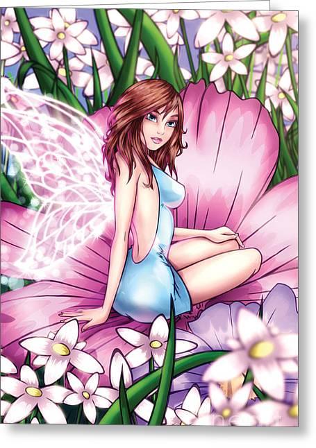 Purple Mushrooms Digital Greeting Cards - Blossom Greeting Card by Hanan Evyasaf