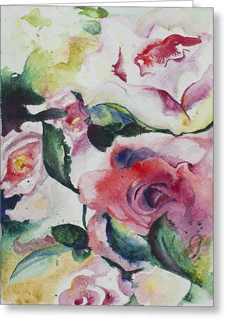 Blossom Parade Greeting Card by Kelly Johnson
