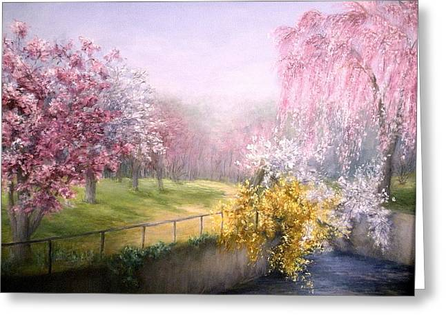 Scenario Greeting Cards - Blossom  Greeting Card by Suely Cassiano