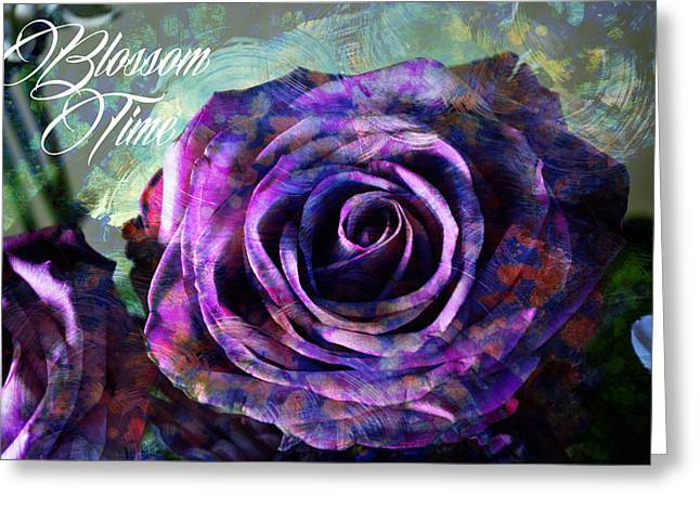 Painted Details Mixed Media Greeting Cards - Blossom Time Greeting Card by John Fish