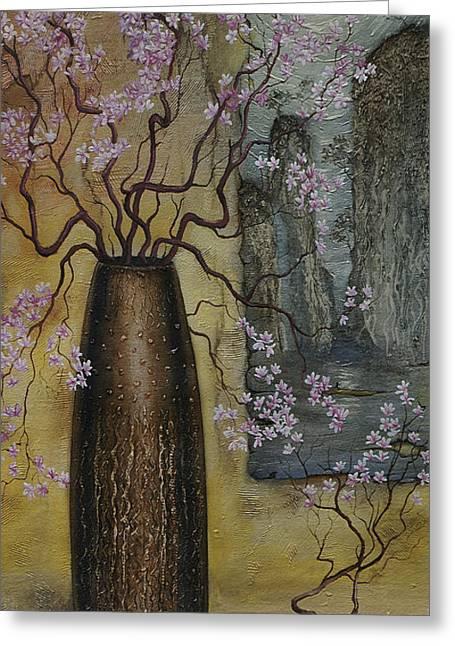 Interior Still Life Greeting Cards - Blossom Greeting Card by Vrindavan Das