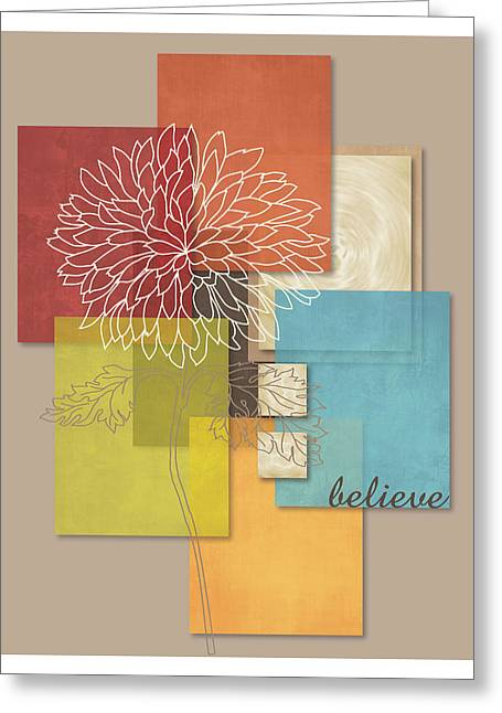 Office Space Digital Art Greeting Cards - Blossoming Believe Abstract Greeting Card by Leslie Fuqua