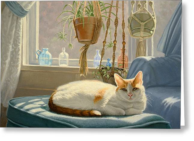 """house Cat"" Greeting Cards - Blossoms Place Greeting Card by Paul Krapf"