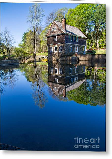 Historic Sites Greeting Cards - Blow Me Down Mill Cornish New Hampshire Greeting Card by Edward Fielding