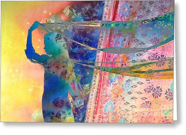 Pastel Shawl Greeting Cards - Blowing in the wind Greeting Card by Tim Gainey