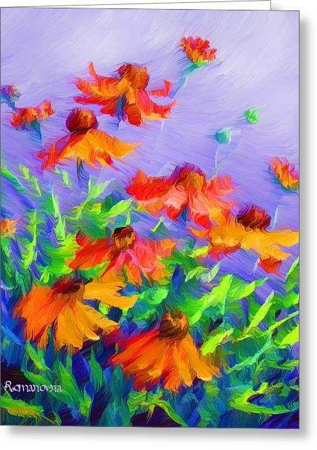 Blowing In The Wind Greeting Card by Georgiana Romanovna