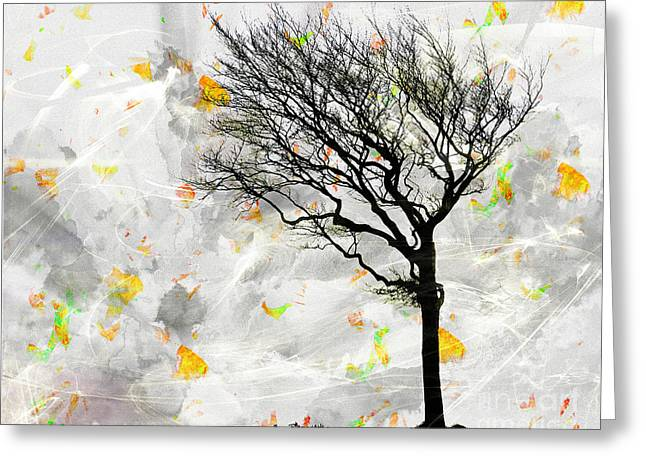 Blowing It The Wind Greeting Card by Edmund Nagele