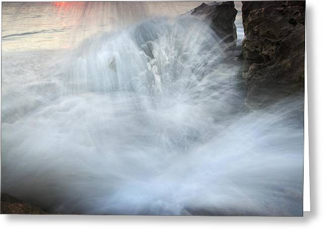 Blowing Rocks Sunrise Explosion Greeting Card by Mike  Dawson