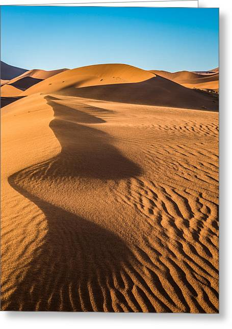 Blowing Sand - Color Sand Dune Photograph Greeting Card by Duane Miller
