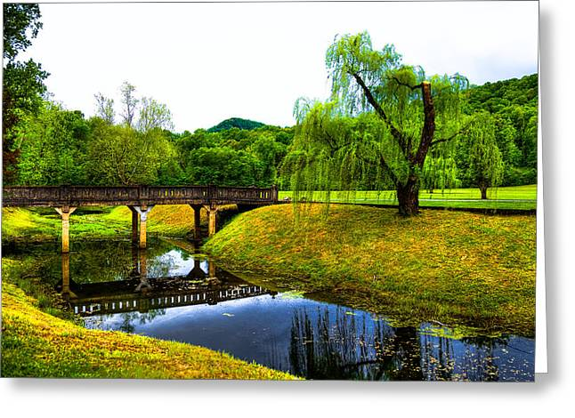 Bridge Of Flowers Greeting Cards - Blowing Spring Park - Tennessee Greeting Card by David Patterson