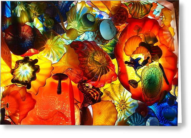 Spheres Greeting Cards - Blown Glass Greeting Card by Dan Sproul