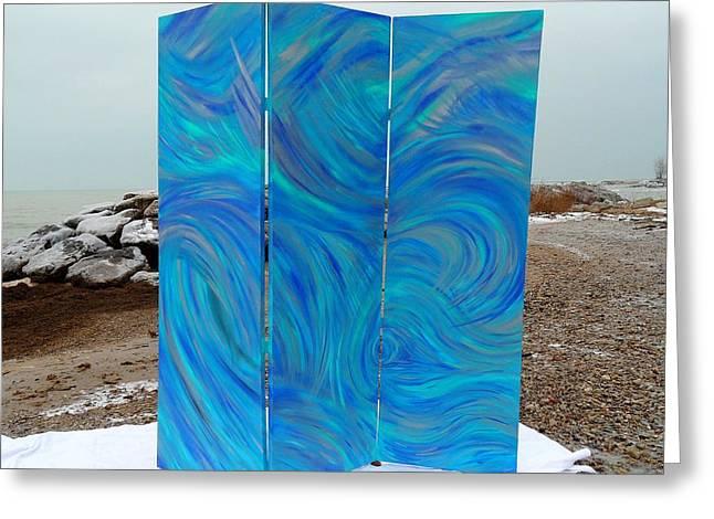 Beach At Night Greeting Cards - Bluatyca Greeting Card by Cyryn Fyrcyd