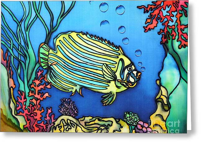 Print Tapestries - Textiles Greeting Cards - Blub II Greeting Card by Ursula Schroter