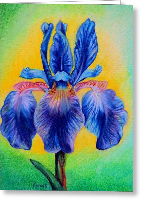 Blue ... Greeting Card by Zina Stromberg