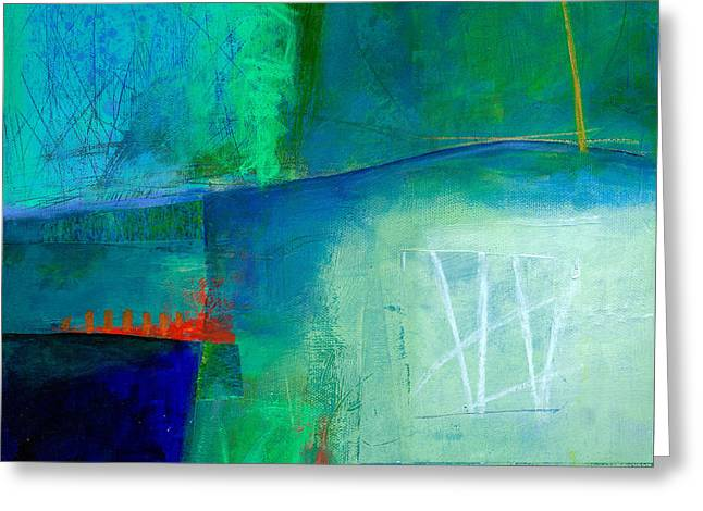 Blue Abstracts Greeting Cards - Blue #1 Greeting Card by Jane Davies