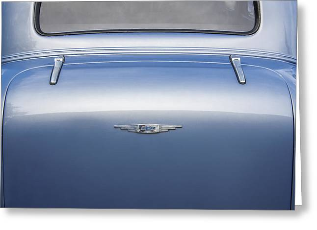 1937 Chevy Greeting Cards - Blue 1937 Chevrolet Greeting Card by Rich Franco