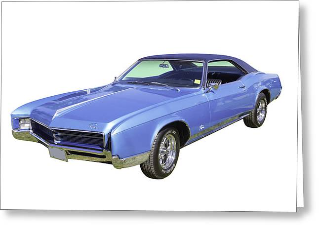 Motor Vehicles Greeting Cards - Blue 1967 Buick Riviera Greeting Card by Keith Webber Jr