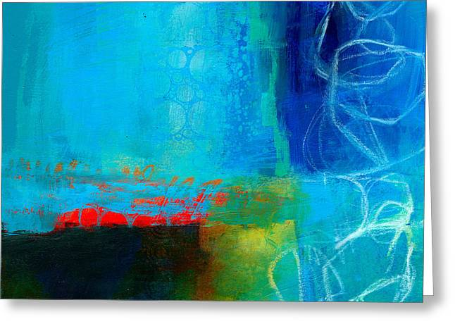 Blue #2 Greeting Card by Jane Davies