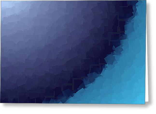 Art Websites Greeting Cards - Blue Abstract Background Greeting Card by Valentino Visentini