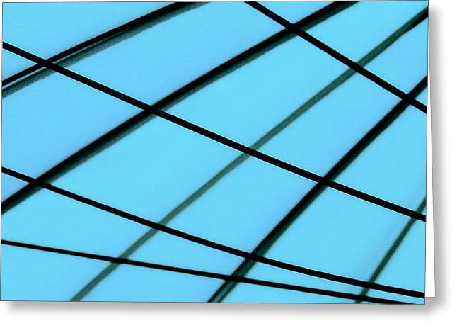 Blue Abstract Greeting Card by TONY GRIDER