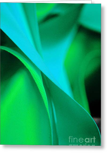 Shower Curtain Photographs Greeting Cards - Blue and Green Abstractions Greeting Card by ArtyZen Studios - ArtyZen Home