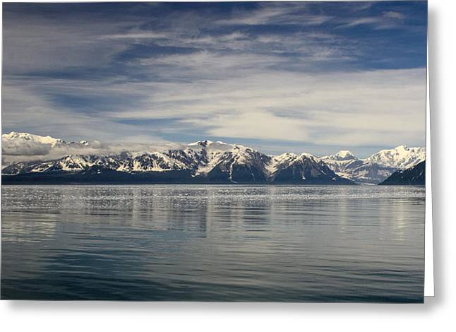 Blue Alaska Panorama Greeting Card by Vicki Jauron