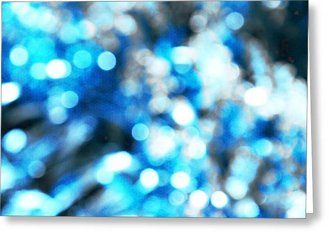 Coloured Greeting Cards - Blue And Grey Greeting Card by Andrew Hunter
