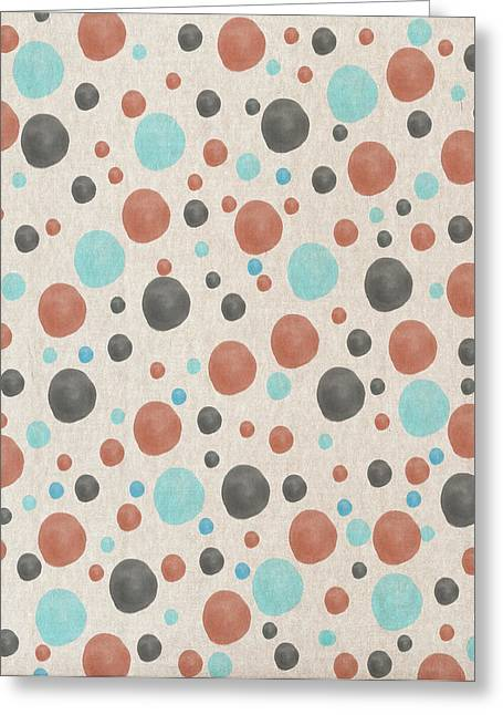 Art Decor Greeting Cards - Blue And orange Dots Greeting Card by Aged Pixel