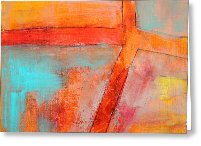 Complimentary Greeting Cards - Blue and Orange Greeting Card by Nancy Merkle