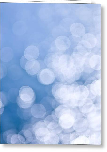 Blue Background Greeting Cards - Blue and white  Greeting Card by Elena Elisseeva