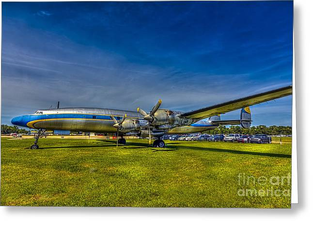 Lockheed Greeting Cards - Blue and Yellow Connie Greeting Card by Marvin Spates