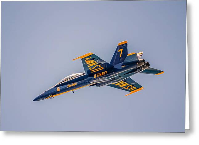 Cooperation Digital Art Greeting Cards - Blue Angel 7 Greeting Card by Rob Sellers