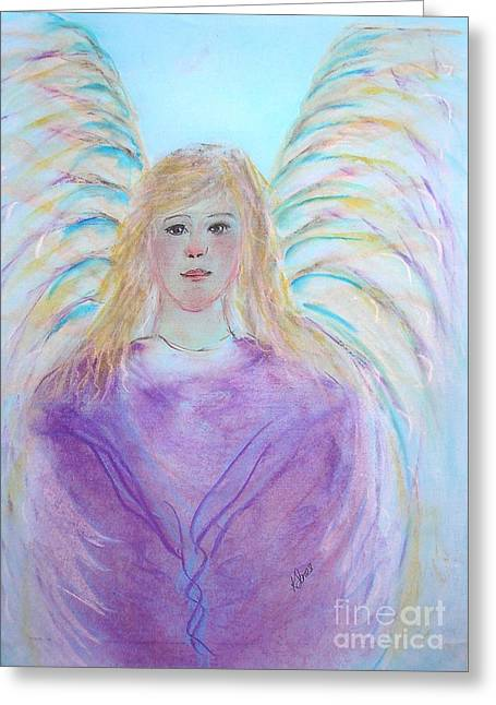 Youthful Pastels Greeting Cards - Blue Angel Greeting Card by Karen J Jones