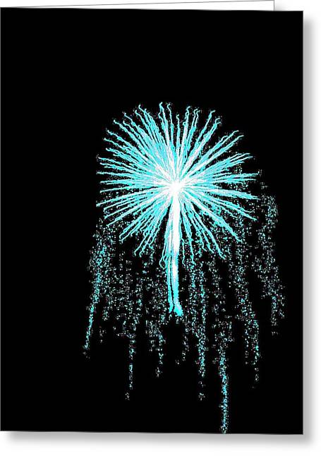 Blue Angel Greeting Card by Katie Beougher