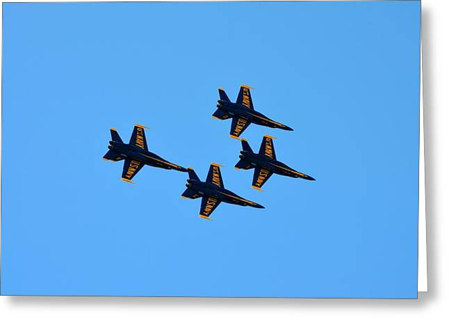 Military Airplanes Greeting Cards - Blue Angels 2 Greeting Card by Richard Bryce and Family