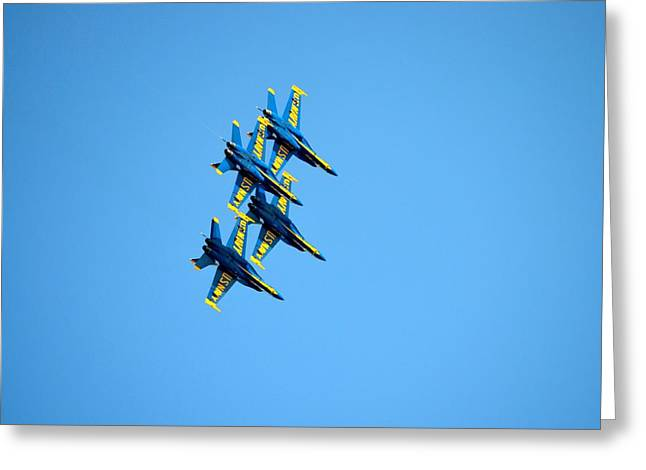 Jacksonville Greeting Cards - Blue Angels 6 Greeting Card by Richard Bryce and Family
