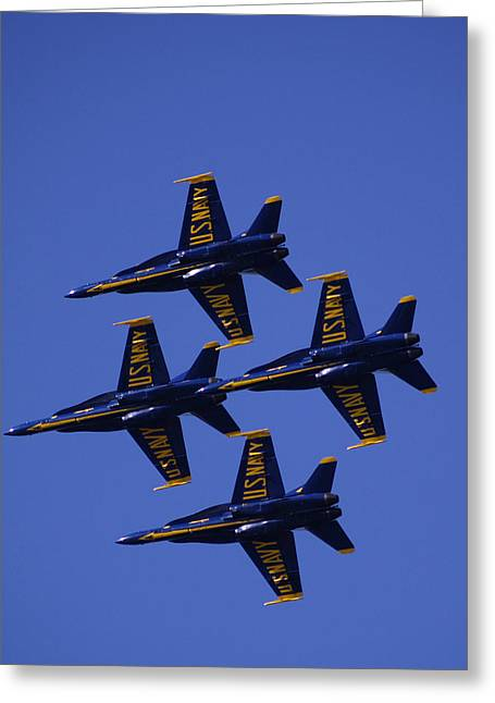 Angel Blues Greeting Cards - Blue Angels Greeting Card by Bill Gallagher