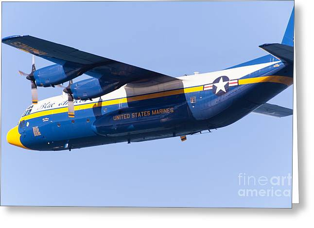 Military Airplanes Greeting Cards - Blue Angels Fat Albert C130T Hercules At San Francisco Fleet Week 5D29565 Greeting Card by Wingsdomain Art and Photography