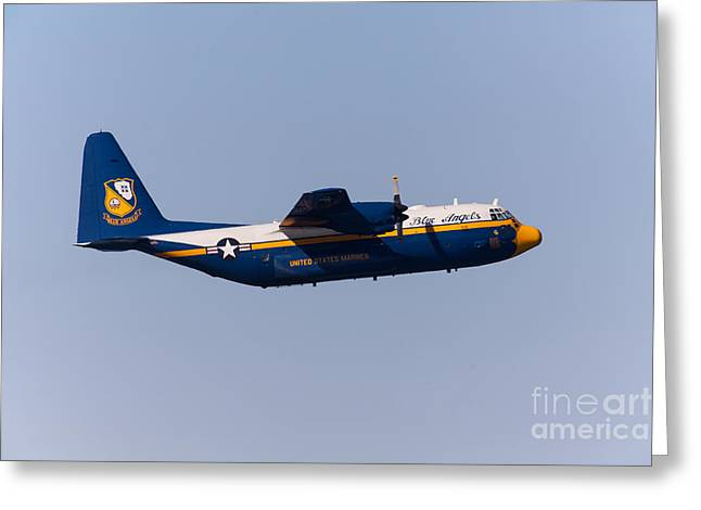Military Airplanes Greeting Cards - Blue Angels Fat Albert C130T Hercules At San Francisco Fleet Week 5D29575 Greeting Card by Wingsdomain Art and Photography
