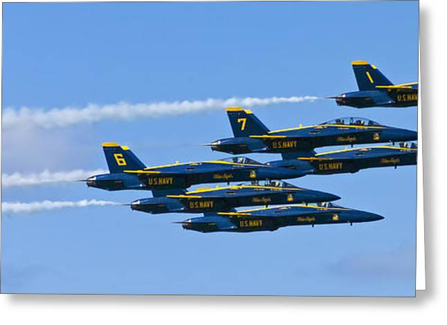 Angel Blues Greeting Cards - Blue Angels IIII Greeting Card by Greg Reed